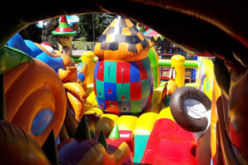 batut v truskavtsi 279x186 - Дитячі атракціони в центрі Трускавця
